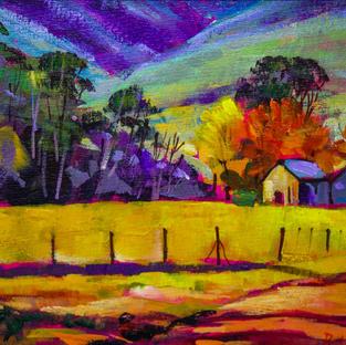 Australian Farmstead number two-31x50 cm