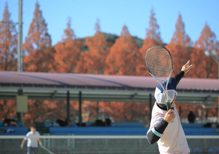 スポーツシーン撮影_諌早市ソフトテニス連盟