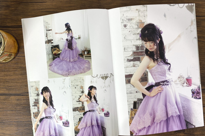 紫ドレス撮影