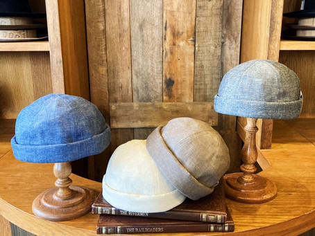 """CHAMBRAY ROLL CAP"""