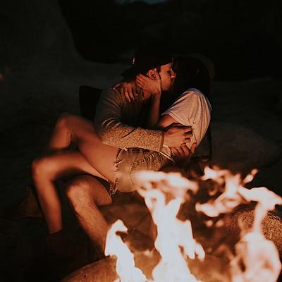fire in joshua tree