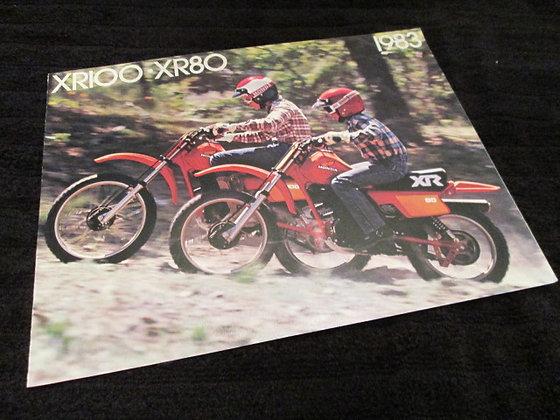 Honda 1983 XR100 - XR80 Sales Brochure