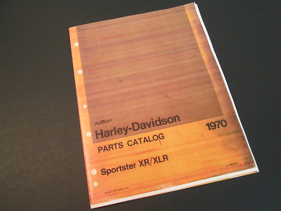AMF Harley Davidson XR XLR Sporster Parts Catalog