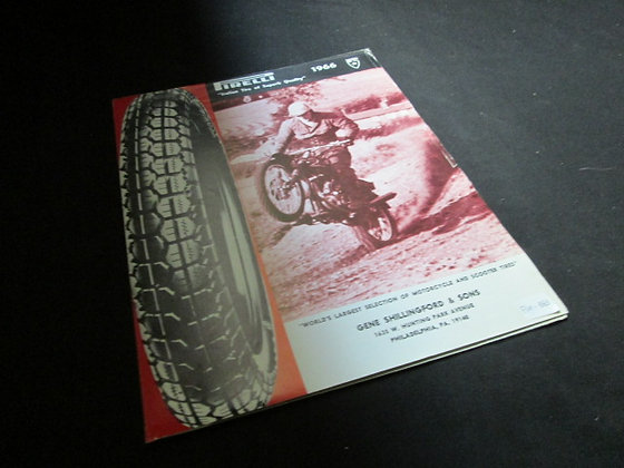 Pirelli 1966 Tire Dealers Price List for Motorcycle and Scooter