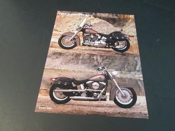 1997 Harley FLSTF Fat Boy Sales Flyer