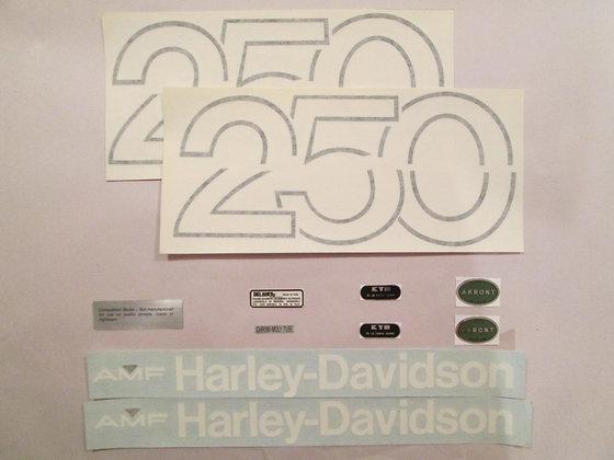 Harley Davidson MX-250 Decal Set