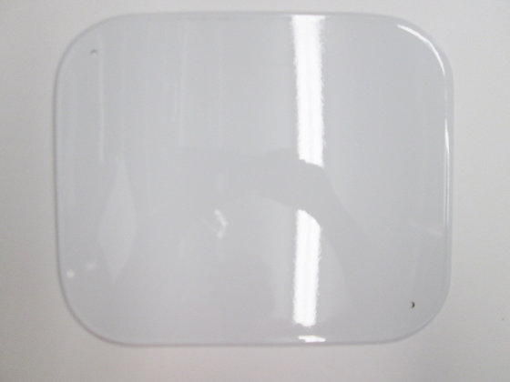 XR750 White Aluminum Number Plate