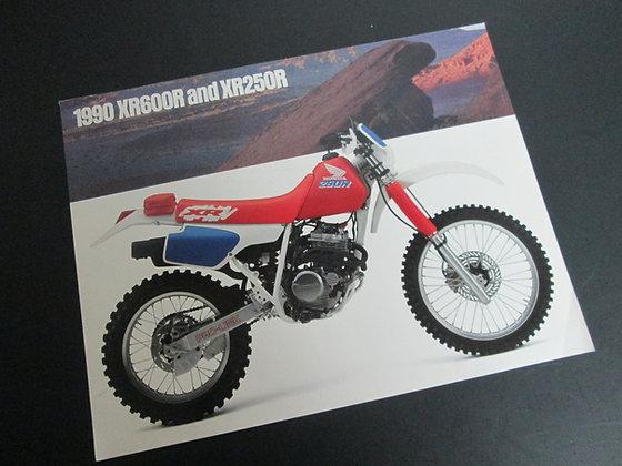 1990 Honda XR600R & XR250R Sales Flyer