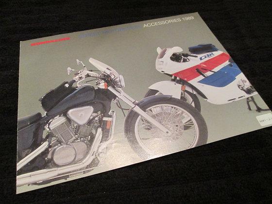 Honda Street Motorcycle Accessories 1989
