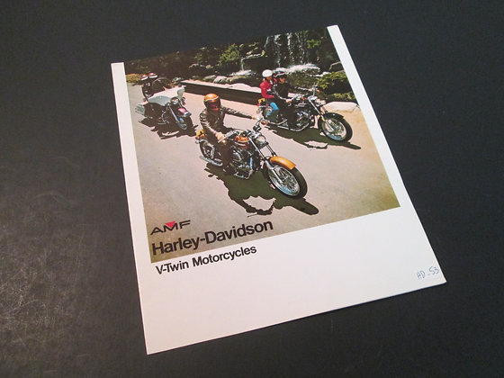 AMF Harley Davidson V-Twin Motorcycle Sales Brochure