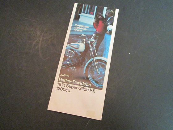 1971 Harley-Davidson Super Glide FX 1200cc Sales Brochure