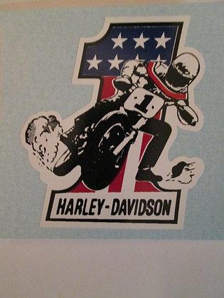 #1 Sliding Sideways Decal Harley Racing & Frames