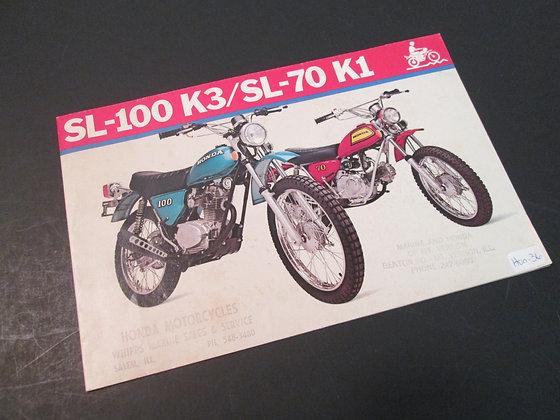Honda SL-100 K3/SL-70 K1 Sales Brochure