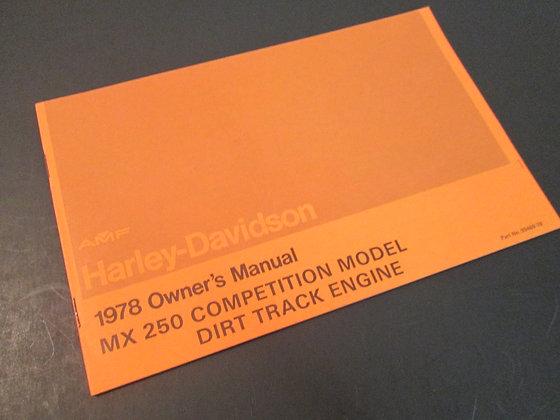 AMF Harley Davidson MX-250 1978 Owners Manual