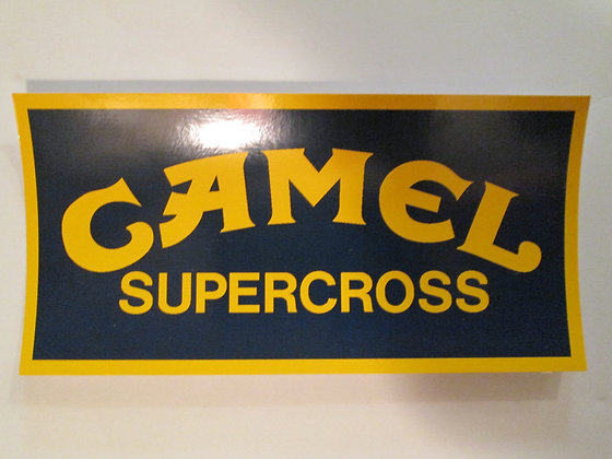 Camel Supercross Decal Harley Racing and Frames