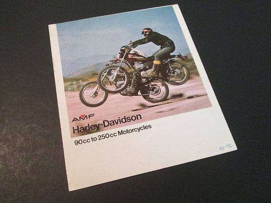 AMF Harley Davidson 90cc to 250cc Motrcycles Sales Brochure