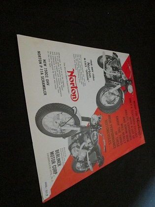 Norton 1968 Sales Flyer