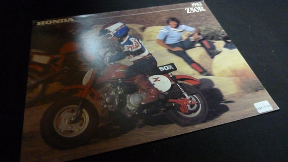 Honda Z50R 1982 Sales Flyer