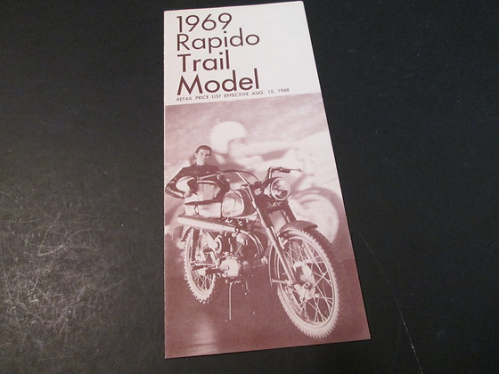 1969 Harley Davidson Rapido Trail Model Sales Brochure
