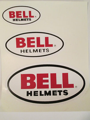 """8"""" Bell Helmet Decal Harley Racing & Frames"""