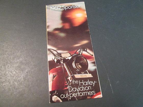 1969 Harley Davidson Sportster Sales Brochure