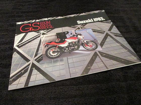 Suzuki 1983 GS 650M 650G 650GL Sales Brochure