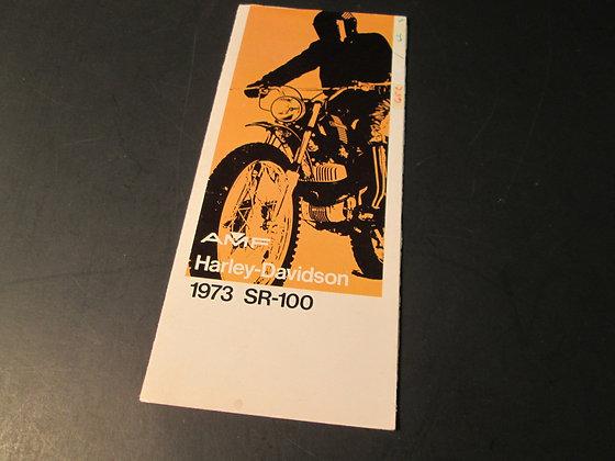 1973 AMF Harley-Davidson SR-100 Sales Brochure