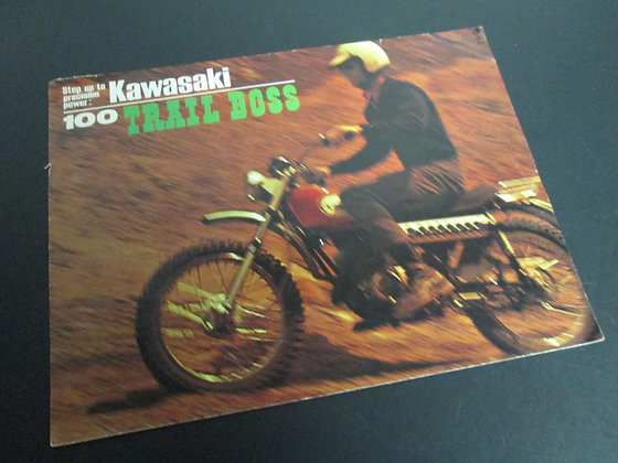 Kawasaki 100 Trail Boss Sales Flyer