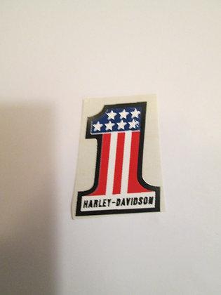 "Harley Davidson 1-1/2"" #1 Decal"
