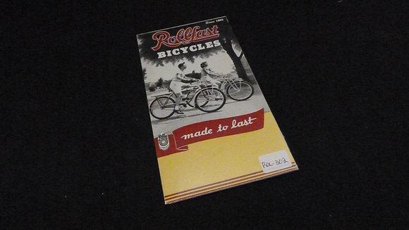 1972 Rollfast Bicycles Sales Brochure