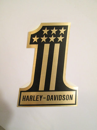 "Harley Davidson 7"" #1 Decal"