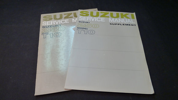 Suzuki 250 Model T10 Service Manual & Supplement