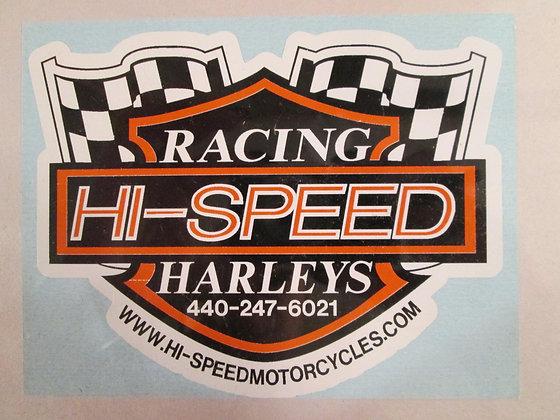 "3"" Hi-Speed Racing Harley's Decal"