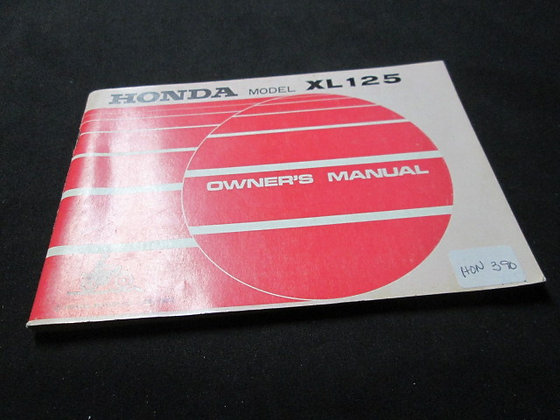 1973 Honda Model XL125 Owners Manual