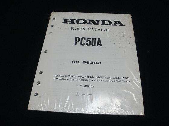 1974 Honda Parts Catalog PC50A HC38293 2nd Edition