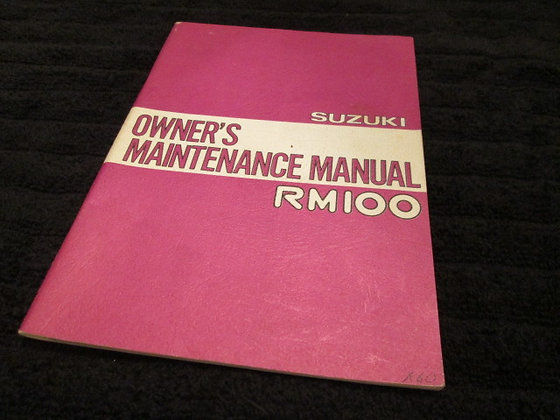 Suzuki Owners Maintenance Manual RM100 January 1978