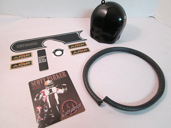 Horn Cover AMF Ignition Parker Harley XLCR Decals