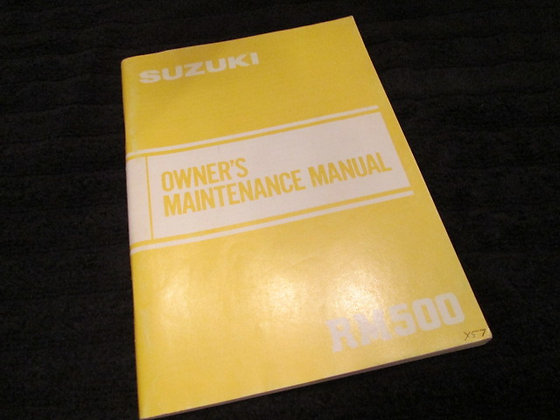 Suzuki Owner's Maintenance Manual RM500