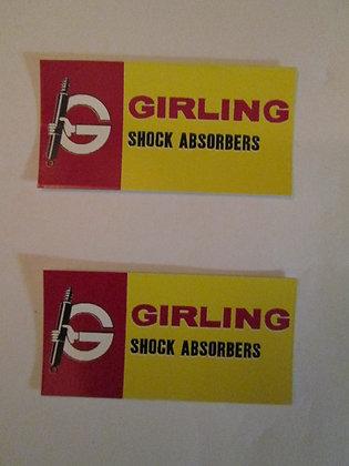Girling Shock Decals Harley Iron XR XR XRTT