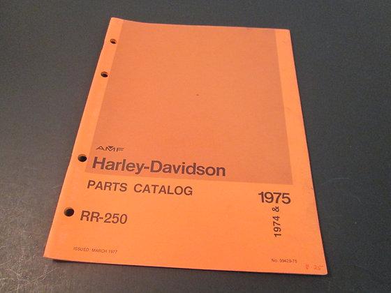 AMF Harley Davidson 1974-75 RR-250 Parts Catalog