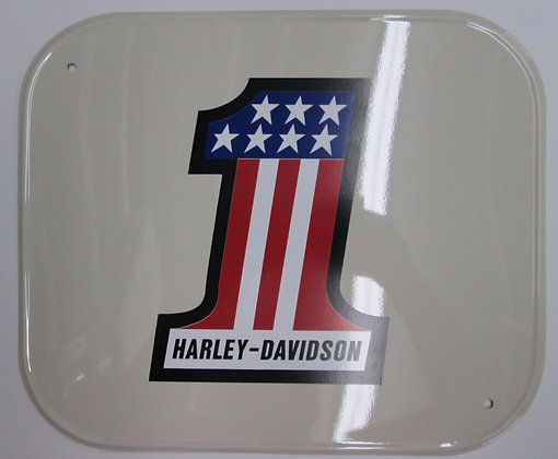 XR750 Amber Aluminum Number Plate w #1Decal