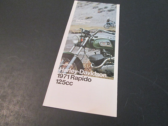 AMF Harley Davidson Rapido 125 Sales Brochure