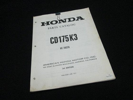 1971 Honda CD175K3 Parts Catalog