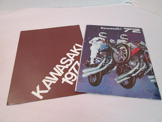 1972 & 77 Sales Brochures Kawasaki