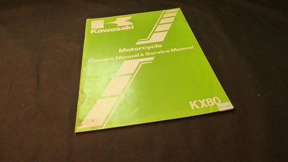 1981 Kawasaki KX80-C2-D2 Owners / Service Manual