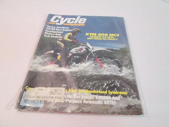 Cycle Magazine Harley XR XR-750 Dirt Track