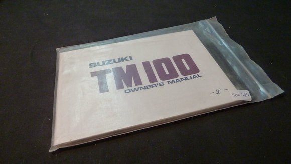 Suzuki TM100 Owners Manual & Motorcycle Safety Literature 	Packet