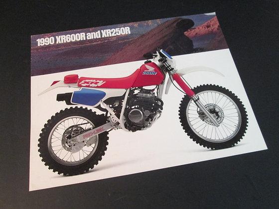 1990 Honda XR600R and XR250R Sales Flyer