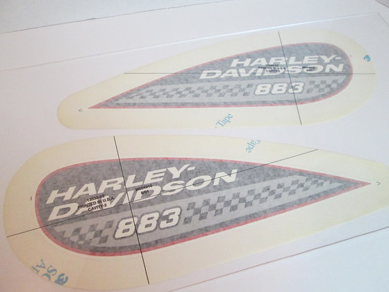 883 Harley Davidson Tear Drop Tank Decals