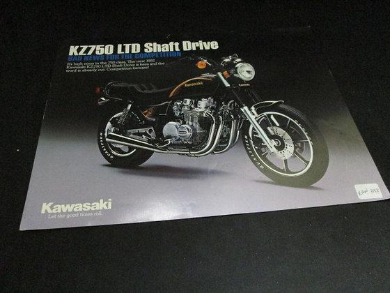 Kawasaki KZ750 LTD Shaft Drive Sales Flyer